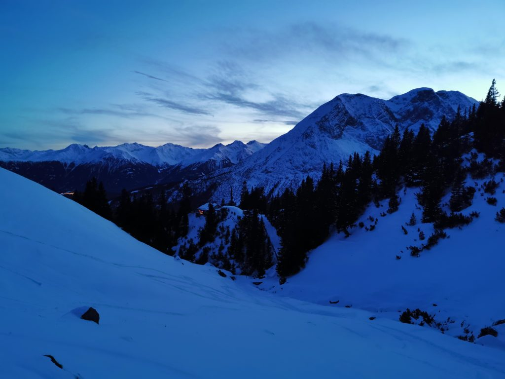 Im Winter auf der Wettersteinhütte