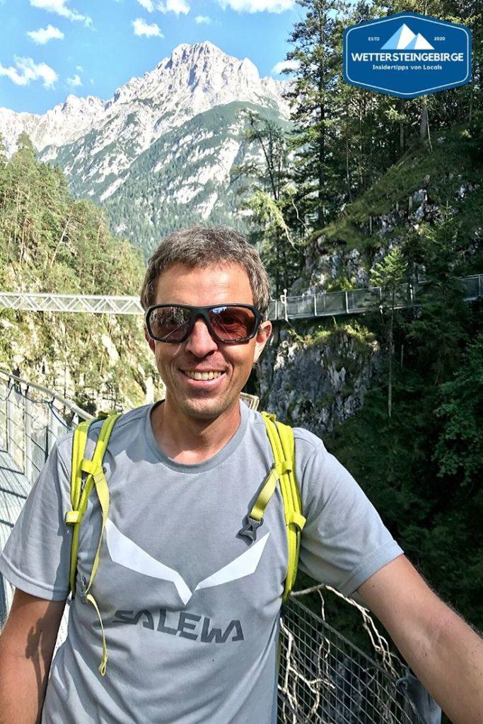 Klamm Bayern - vor der großen Brücke in der Leutaschklamm