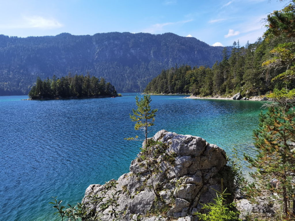 Der Eibsee in Grainau