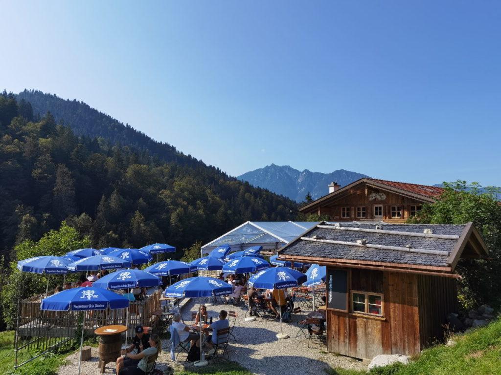 Wettersteingebirge Hütten - hier am Fuße der Zugspitze in Garmisch Partenkirchen