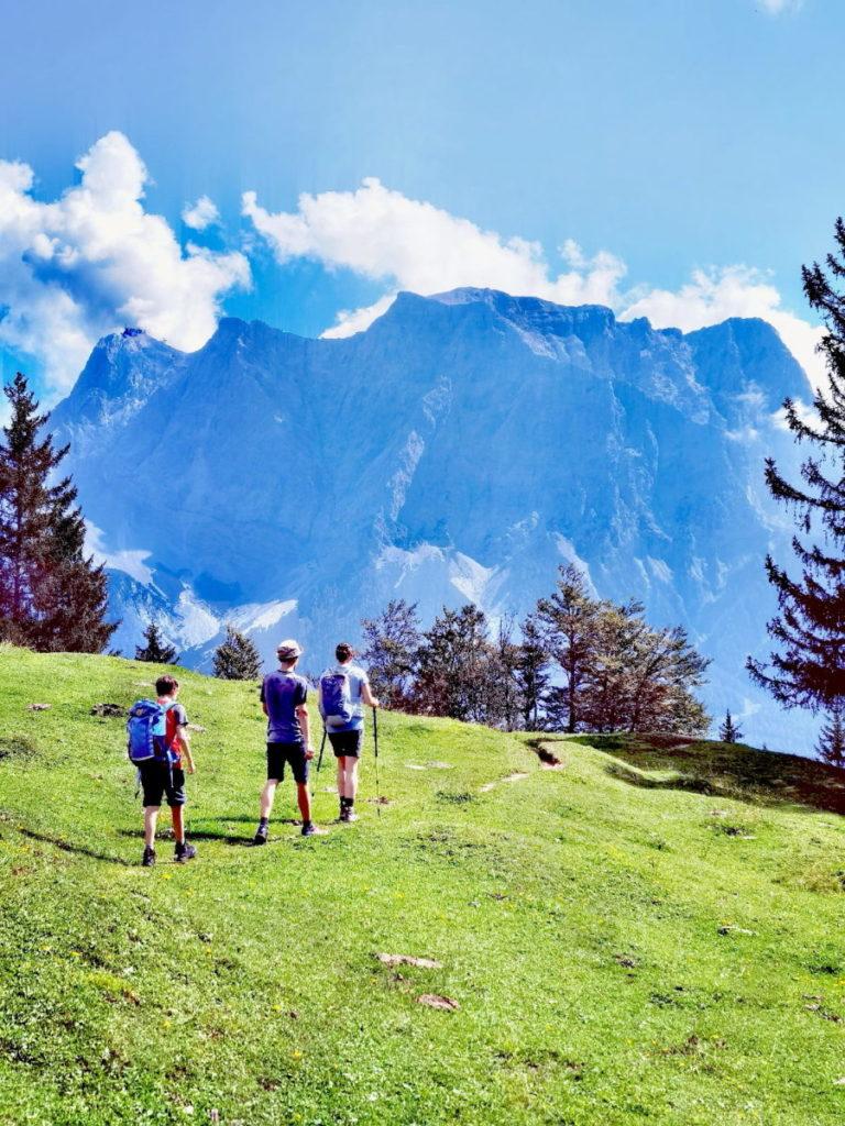 Aussichtsreich und leicht im Wettersteingebirge wandern