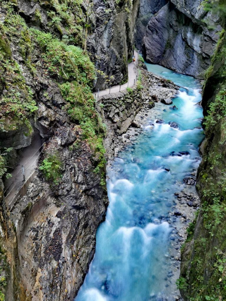 Bei der Partnachklamm im Wettersteingebirge wandern