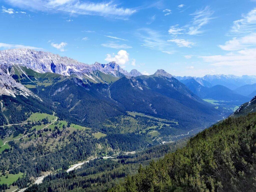 Das Gaistal - überragt vom Wettersteingebirge