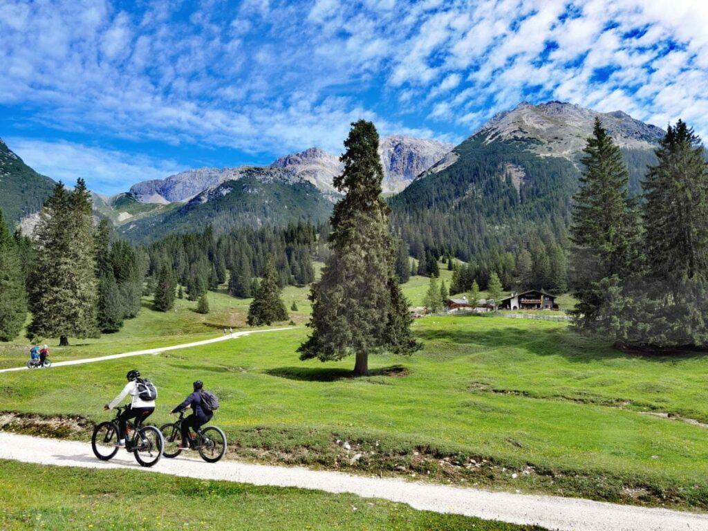 Traumtour zur Gaistalalm mit dem Mountainbike im Wettersteingebirge